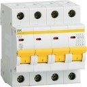 IEK ВА47-29 MVA20-4-025-C Автоматический выключатель четырехполюсный 25А (4.5 кА, C)