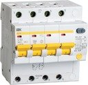 IEK АД-14 MAD10-4-040-C-300 Автоматический выключатель дифференциального тока четырехполюсный 40А (тип AC, 4.5 кА)