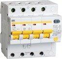 IEK АД-14 MAD10-4-050-C-100 Автоматический выключатель дифференциального тока четырехполюсный 50А (тип AC, 4.5 кА)