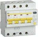 IEK АД-14 MAD13-4-025-C-100 Автоматический выключатель дифференциального тока четырехполюсный 25А (тип AC,
