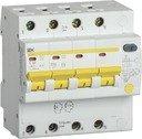 IEK АД-14 MAD13-4-032-C-100 Автоматический выключатель дифференциального тока четырехполюсный 32А (тип AC,