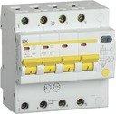 IEK АД-14 MAD13-4-050-C-100 Автоматический выключатель дифференциального тока четырехполюсный 50А (тип AC,