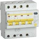 IEK АД-14 MAD13-4-063-C-100 Автоматический выключатель дифференциального тока четырехполюсный 63А (тип AC,