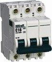 DEKraft ВА-101 11223DEK Автоматический выключатель трехполюсный 8А (4.5 кА, C)