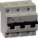 КЭАЗ ВА47-100 233057 Автоматический выключатель трехполюсный 20А (10 кА, D)
