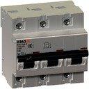 КЭАЗ ВА47-100 141631 Автоматический выключатель трехполюсный 80А (10 кА, D)